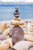 平衡的岩石 库存照片