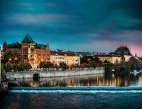 平衡的布拉格的看法 免版税库存照片