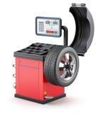 平衡的设备轮子 库存照片
