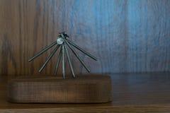 平衡的钉子益智游戏2 免版税库存照片
