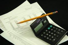 平衡的银行对帐单 免版税库存图片