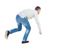 平衡的年轻人或推托落的人 图库摄影