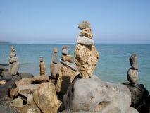 平衡的ii石头 库存照片