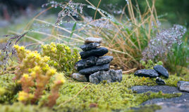 平衡石头 挪威 免版税库存照片