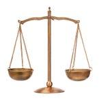 平衡老缩放比例 免版税库存图片
