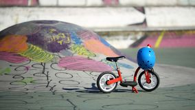 平衡自行车 免版税库存照片