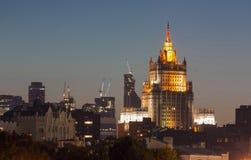 平衡莫斯科视图,俄国 库存照片