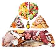 平衡饮食的产品 免版税库存图片