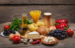 平衡饮食的概念 库存图片