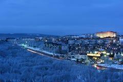 平衡高莫斯科上升的大厦城市 免版税库存照片
