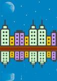 平衡高莫斯科上升的大厦城市 库存照片