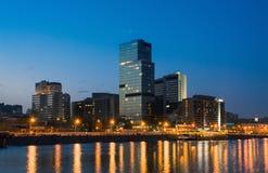 平衡高莫斯科上升的大厦城市 免版税库存图片