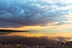 平衡贝加尔湖的夏天 免版税库存图片