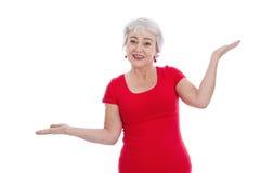平衡-老妇人藏品标度-被隔绝的红色 图库摄影