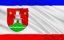平讷贝格县旗子在石勒苏益格-荷尔斯泰因,德国 向量例证