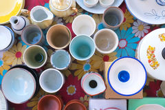 平陶器的视图 免版税库存照片