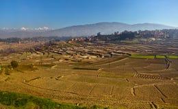平静农村的风景 免版税库存照片