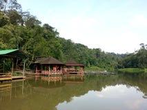 平静在塔曼Cahaya,莎阿南,马来西亚 免版税库存图片