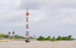 平静河在越南 库存照片