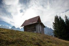 平静的地方在阿尔卑斯 免版税库存照片