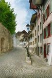 平静的小的街道 库存照片