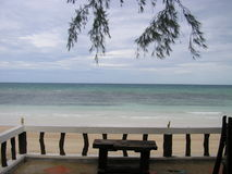 平静的斑点酸值陶海岛,泰国 图库摄影