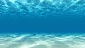 平静的水下的场面3D回报 库存图片