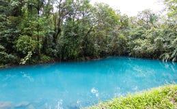 平静的水池在绿松石河 免版税库存照片