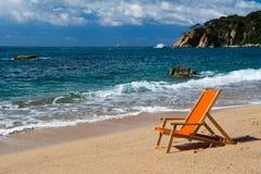 平静的海滩 免版税库存图片