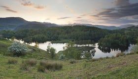 平静的湖风景 库存照片