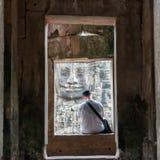 平静的片刻在吴哥城 库存图片