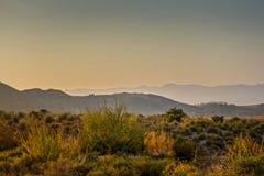 平静的风景在自然公园,阿尔梅里雅 免版税库存照片