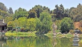 平静的水庭院 免版税库存图片