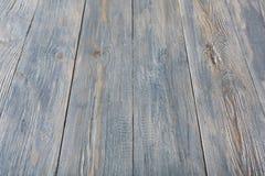 平静蓝色木纹理和背景 免版税库存照片