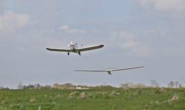 平面拖曳滑翔机 库存照片