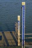 水平面测量在河IJssel 免版税库存照片