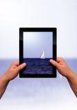 平面的个人计算机片剂 图库摄影