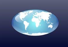 平面的地球 图库摄影