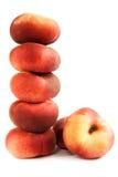 平面的桃子堆 免版税库存图片