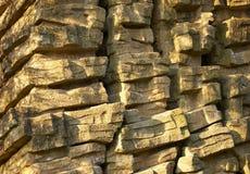 平面的被堆积的石头 免版税库存照片
