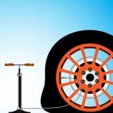 平面的轮胎 库存图片
