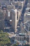 平面的铁大厦在纽约 库存图片