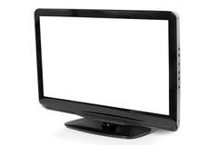 平面的lcd屏幕电视 库存图片