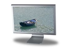 平面的lcd显示器屏幕 免版税库存照片