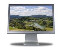平面的lcd显示器屏幕 免版税库存图片