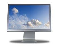 平面的lcd显示器屏幕 库存照片