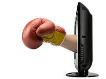 平面的lcd等离子屏幕电视 免版税库存图片