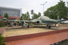 平面赛斯纳A-37蜻蜓在博物馆第5军事化了区域 岘港市,越南 库存图片