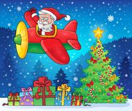 平面题材图象的9圣诞老人 库存图片