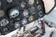 平面驾驶舱,老航空器 库存图片